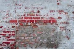 Textura do tijolo com riscos e quebras Imagem de Stock Royalty Free