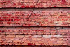Textura do tijolo com riscos e quebras Imagem de Stock