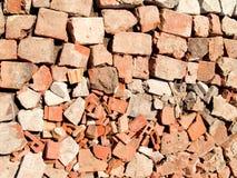 Textura do tijolo de Brocken Imagem de Stock Royalty Free
