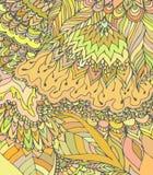 Textura do vetor com flores abstratas Molde do verão, da mola ou do outono Fotos de Stock Royalty Free