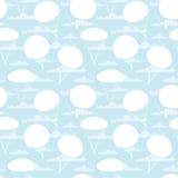 Textura do vetor com paraquedas e nuvens Imagens de Stock Royalty Free