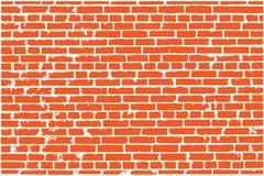 Textura do vetor da parede de tijolo velha vermelha Imagens de Stock Royalty Free