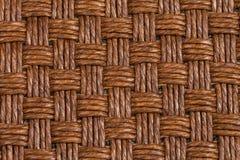 Textura do vime de Brown Fotografia de Stock