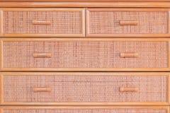 A textura do vime veste o fundo do bege da caixa Imagem de Stock Royalty Free