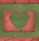 Textura do vintage, cartão do Valentim ilustração stock