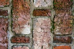 Textura do vintage da alvenaria velha na vista próxima fotografia de stock royalty free