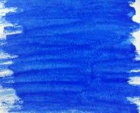 Textura do Watercolour dos azuis cobalto Imagem de Stock