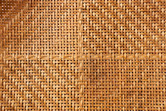 Textura do weave de bambu Foto de Stock