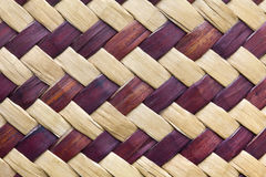 Textura do weave de bambu Fotos de Stock