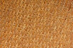 Textura do weave de bambu Fotografia de Stock