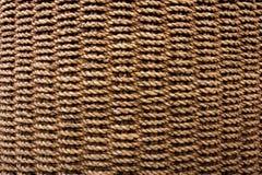 Textura do Weave de cesta da corda Imagens de Stock Royalty Free