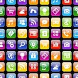 Textura dos ícones 3d do App com reflexão Foto de Stock