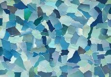Textura dos azul-céu do papel rasgado imagem de stock