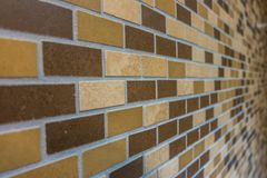 Textura dos azulejos de Brown Fotografia de Stock