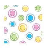 Textura dos círculos de cor Fotografia de Stock
