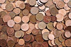 Textura dos centavos de Euro Imagens de Stock
