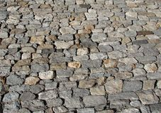 Textura dos Cobblestones Foto de Stock Royalty Free