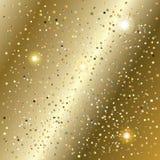 Textura dos confetes e dos sparkles do brilho do ouro do ano novo ilustração stock