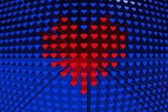 A textura dos corações Fotos de Stock Royalty Free