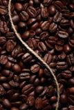 Textura dos feijões de café da goma-arábica Imagens de Stock