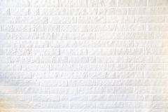 Textura dos fundos brancos da textura do fundo da parede de tijolo para o gráfico imagem de stock