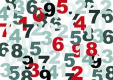 Textura dos números Imagens de Stock