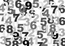Textura dos números Fotos de Stock
