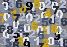 Textura dos números Imagem de Stock