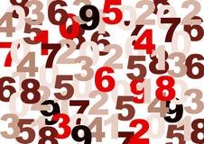 Textura dos números Fotografia de Stock