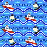 A textura dos navios de flutuação do mar Fotografia de Stock