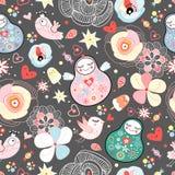 A textura dos pássaros do amor e dos brinquedos Imagem de Stock Royalty Free