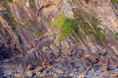 A textura dos penhascos litorais Imagem de Stock