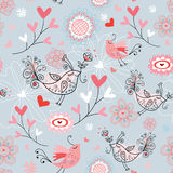 A textura dos pássaros do amor Imagem de Stock Royalty Free