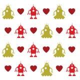 Textura dos robôs do amor Fotos de Stock