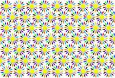 Textura dos testes padrões coloridos com pessoas pequenas Fotos de Stock