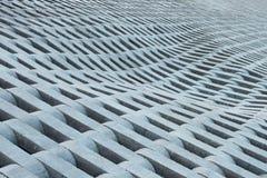 Textura dos tijolos concretos cinzentos. Fotos de Stock Royalty Free