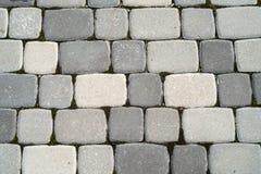 Textura dos tijolos da estrada imagens de stock
