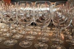 Textura dos vidros de vinho Fotografia de Stock