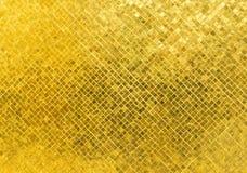 Textura dourada brilhante luxuosa do fundo do mosaico de Tone Rectangle Tile Glass Pattern imagens de stock royalty free