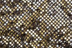 Textura dourada da tela Fotografia de Stock