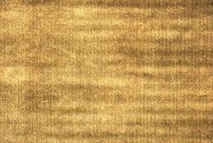 Textura dourada da tela Imagem de Stock Royalty Free