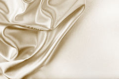 Textura dourada da tela de seda Fotografia de Stock