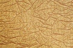Textura dourada de pano Imagens de Stock Royalty Free