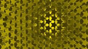 textura dourada do fundo do teste padrão de estrelas 3d ilustração royalty free