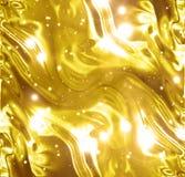 Textura dourada do papel ou do cetim de envolvimento Fotografia de Stock Royalty Free