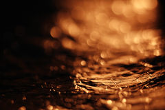 Textura dourada, folha Fotos de Stock