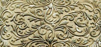Textura dourada metálica abstrata Fotografia de Stock Royalty Free