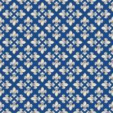 Textura dourada sem emenda com flor de lis Foto de Stock Royalty Free