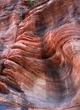 Textura e cores de formações de rocha da areia Imagem de Stock