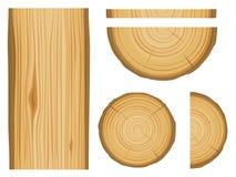 Textura e elementos de madeira Foto de Stock Royalty Free